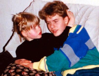 Katja mit ihrem Bruder Sascha