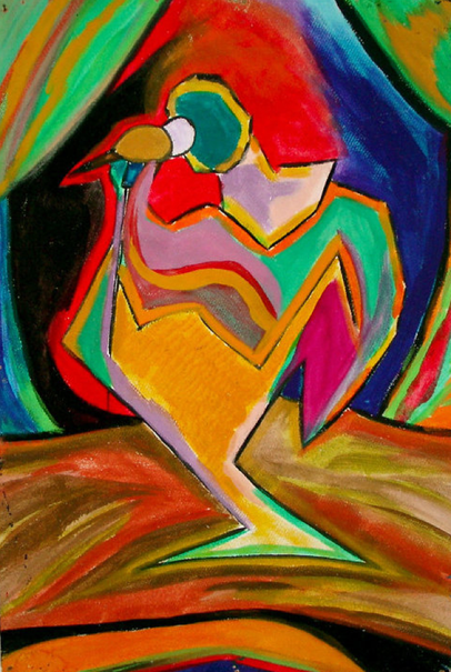 "NEW PIECE OF ART ""THE SINGER"", 1996 by MARCO MADRIDO"