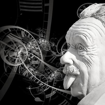 Albert Einstein shows his tongue