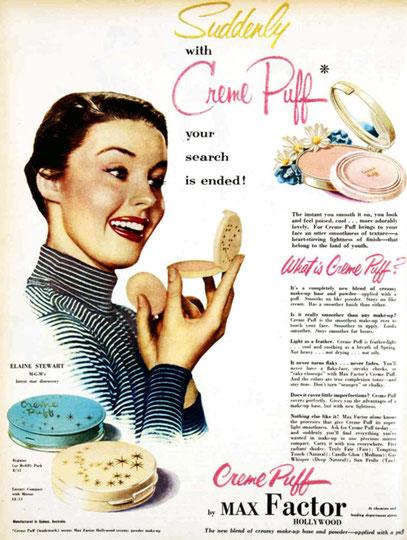 ANNEES 1950 - PUBLICITE POUR LES CREMES PUFF