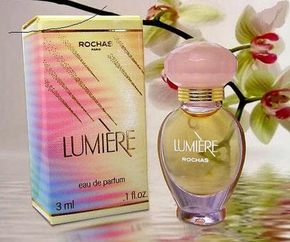 LUMIERE - FLACON AMPHORE VERRE TRANSPARENT - EAU DE PARFUM 3 ML - BOUCHON ROSE CLAIR