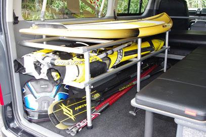 ハイエース キャラバン ボードラック サーフィン ウインド トランポ