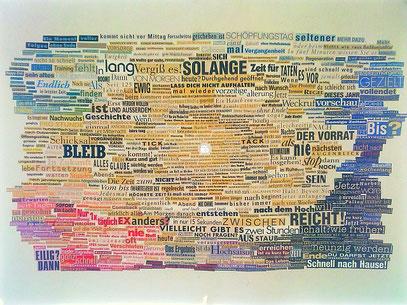 """COLLAGE FÜR POEMIE """"SONNTAG"""" (c) Copyright by Christina Campo Hübner, 1998"""