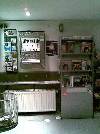 LITERATURAUTOMAT (c) FOTO: De Toys, 21.2.2009 @ ZAKK-Foyer (Düsseldorf)