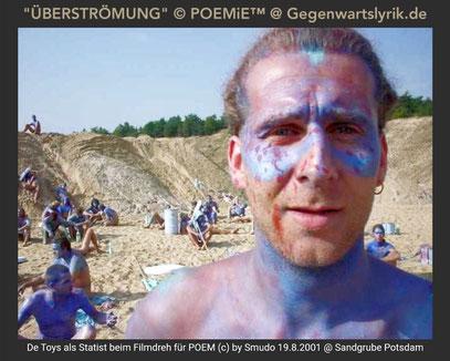 De Toys als Statist beim Filmdreh für POEM (c) by Smudo 19.8.2001 @ Sandgrube Potsdam