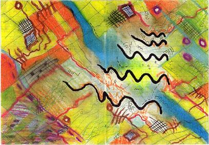 ENERGIE (c) De Toys, 6./7.1.1992 (20,5x29,5cm, Wachs auf Papier)