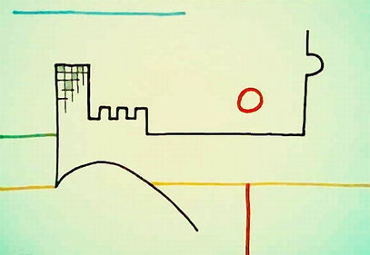 ALLIANZ & FERNSEHTURM (c) De Toys, 23.11.2008 (Edding+Bleistift auf Papier)