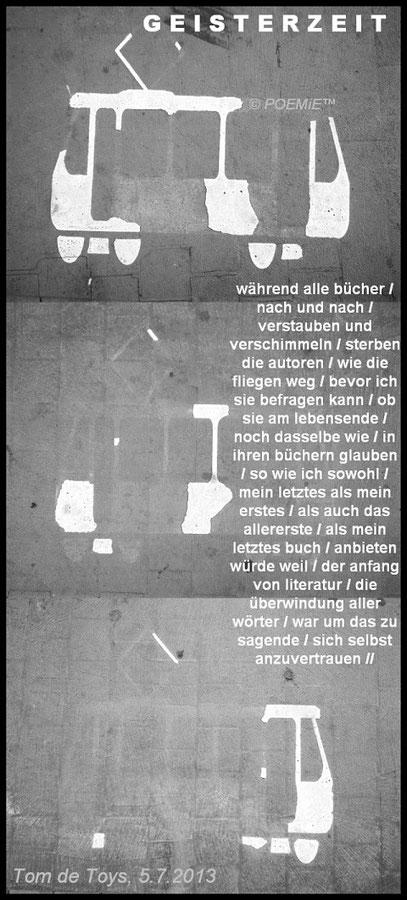 VERKEHRSSTRANDMODE (c) De Toys, 6.7.2013 @ Worringer Platz (Düsseldorf)