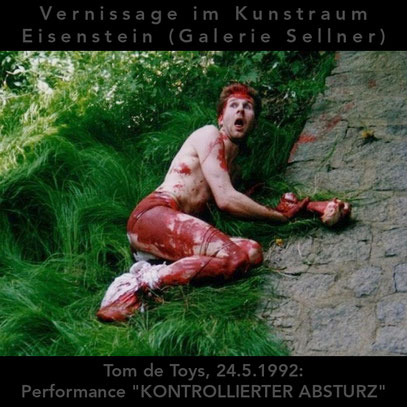 "Performance ""KONTROLLIERTER ABSTURZ"" (c) De Toys, 24.5.1992"