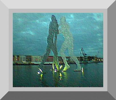 "LOCHMENSCHEN (c) De Toys, 16.9.2004 (""Molecule Man"" Sculpture)"