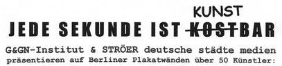 KNK-PARTNERPROJEKT zwischen den Bezirken Neukölln & Wedding: mangels Interesse seitens der Künstler selbst gescheitert - nur 10 Bewerber !!