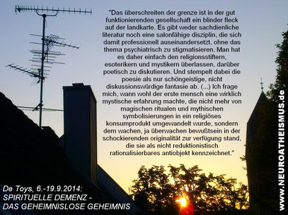 "Foto: ""REGULAR SUNRISE"" (c) De Toys, 17.9.2014 @ Ddorf-Wersten"