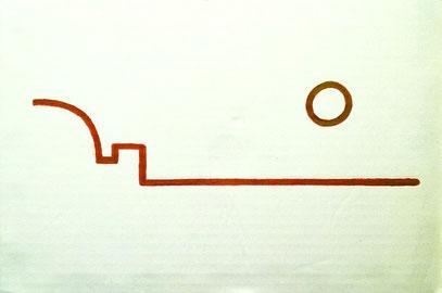 """""""NEURO-MANTISCHER REICHSTAG BEI SONNENUNTERGANG (DAS GANZE BERLIN)"""" (c) De Toys, 28.7.2011 (Industriekarton 20 x 29,5 cm, gelocht) @ Privatsammlung BGN Wersten"""