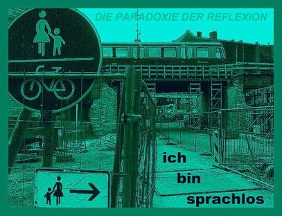 De Toys, 1990: PARADOXIE DER REFLEXION (c) Foto: 12.6.2011 (Alt-Stralau, Berlin)