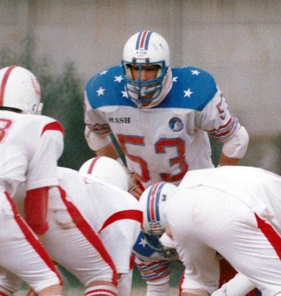 Nel 1986 con la divisa dei Verona Redskins