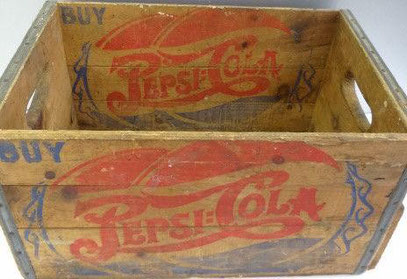 Old Pepsi wooden-box, I think for bottles.