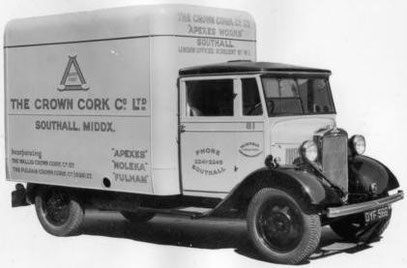 CROWN CORK COMPANY LTD SOUTHALL MIDDLESEX PRE WAR VAN.