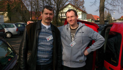 Or easy trade directly from car, here after trade with Sergey Pavlov in Hirschaid 2014.