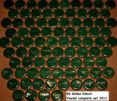 86 Veedel complete Gilden Kölsch beer set 2011.