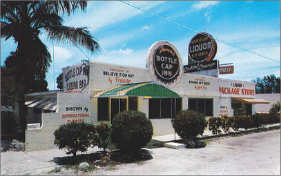 Postcard of Bottle Cap Inn, Miami, Florida.