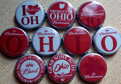 10 Budweiser Ohio set, USA 2013.