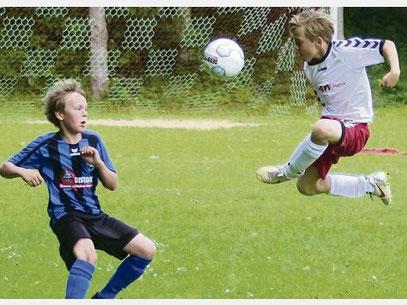Das Spiel der D I der JSG Fehmarn gegen den SV Göhl ging mit 2:5 verloren. Foto: Noffke