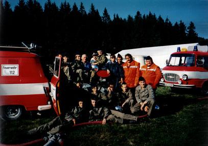 Die Jugendfeuerwehr, zwei Jahre nach ihrer Gründung 1994.