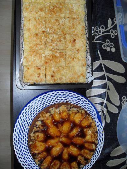 Apfelsandkuchen und Butterkuchen