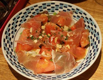 夏定番の滝沢スイカと生ハムのサラダ