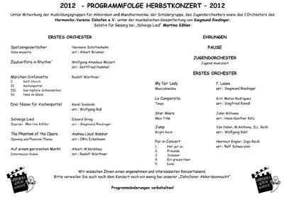 Unser Konzertprogramm