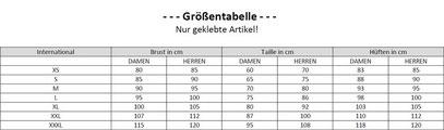 Tabelle-Unisex-Latex