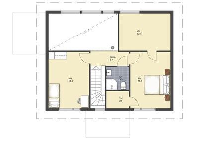 Holzhaus bauen - Massivholzhaus - Blockhaus - Wohnblockhaus - Blockhausbau - Winterfeste große Holzhäuser