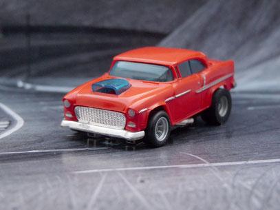 Faller AMS AURORA AFX '55 Chevy Bel Air rot