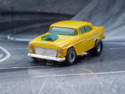 Faller AMS AURORA AFX '55 Chevy Bel Air gelb