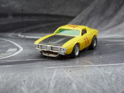 AURORA AFX Dodge Charger Stock Car gelb/schwarz/rot #11