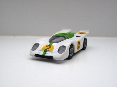 Faller AMS AURORA AFX Porsche 917 weiß/grün #2 klare Scheibe - offene Haube