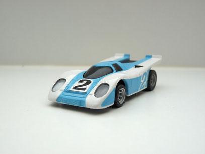 Faller AMS AURORA AFX Porsche 917 weiß/hellblau # 2