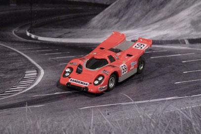 Faller AMS AURORA AFX Porsche 917k Team Sandeman #59