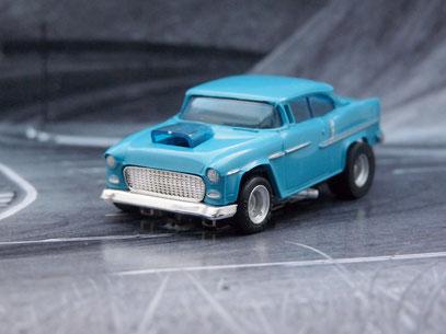 Faller AMS AURORA AFX '55 Chevy Bel Air blau