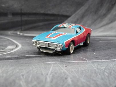 "AURORA AFX Dodge Charger Stock Car ""Richard Petty"" blau/rot/weiß #43"