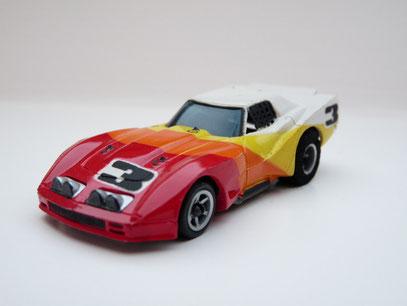 Faller AMS AURORA AFX Corvette GT weiß/rot/gelb #1011