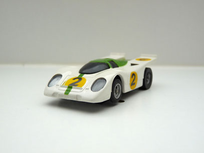 Faller AMS AURORA AFX Porsche 917k weiß/grün #2 -schwarze Scheibe
