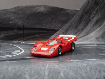 AURORA AFX Ferrari 512M rot