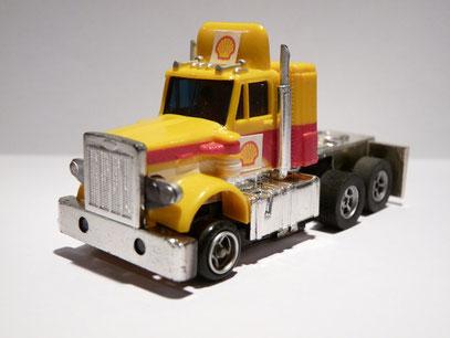 AURORA AFX Peterbilt Truck gelb/rot/weiß