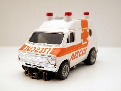 Faller AMS AURORA AFX Dodge Rescue Van weiß / orange