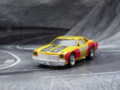 Faller AMS AURORA AFX Chevelle Stocker gelb/rot/schwarz #17