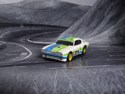 "AURORA AFX Ford Capri RS 2600 weiß/grün/blau #21 ""European Version 1"""