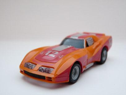 AURORA AFX Corvette GT orange/rot/silber #12