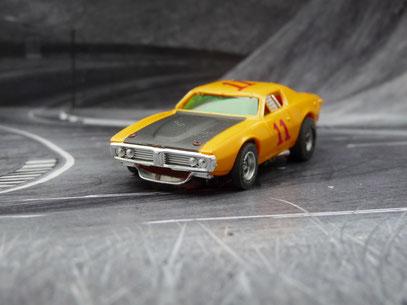 AURORA AFX Dodge Charger Stock Car orange/schwarz/rot #11