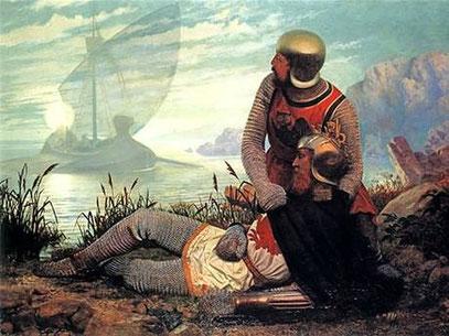 Künstlerische Darstellung vom Tod des König Artus